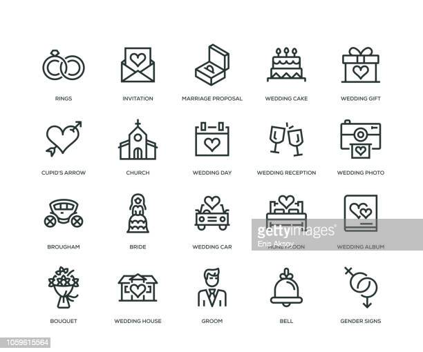 Wedding Icons - Line Series