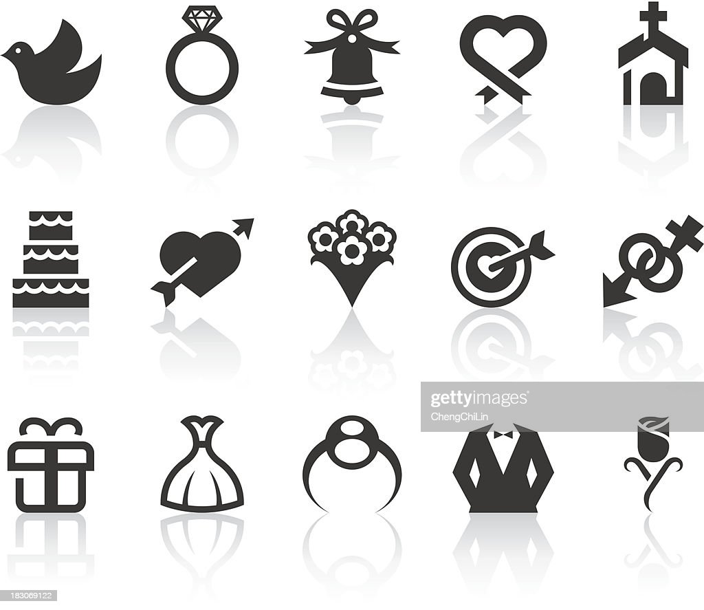 Wedding Icons | Simple Black Series