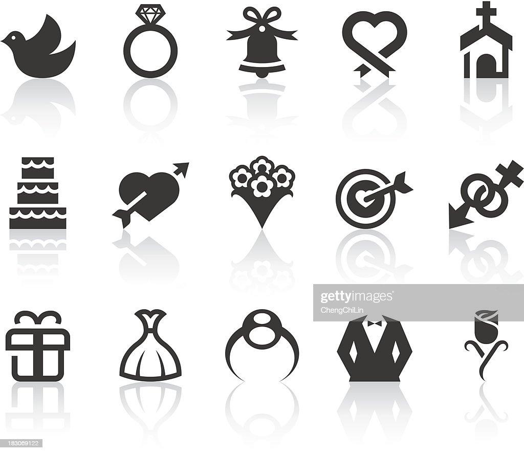 Wedding Icons   Simple Black Series