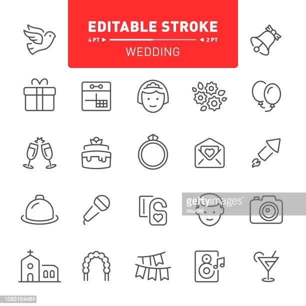 illustrations, cliparts, dessins animés et icônes de icônes de mariage - bouquet de fleurs