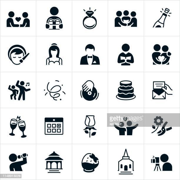 wedding icons - pastor stock illustrations