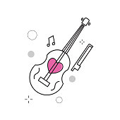 Wedding Icons Violin Love.jpg with Outline Filled Style