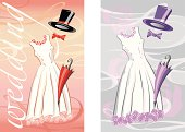 wedding in red and purple
