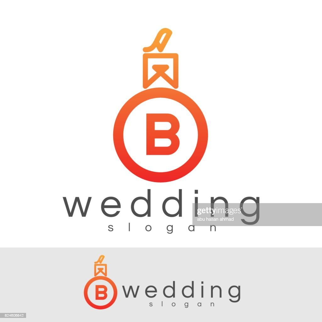 Wedding Initial Letter B Icon Design Vector Art Getty Images