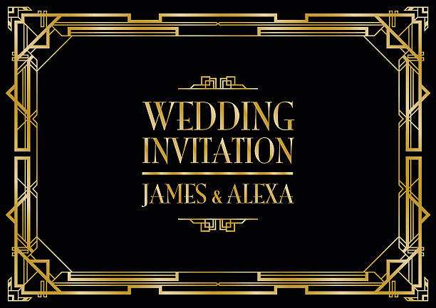 Free art deco background images pictures and royalty free stock wedding invitation art deco voltagebd Images