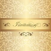 Wedding Invitation card  in luxury vintage style