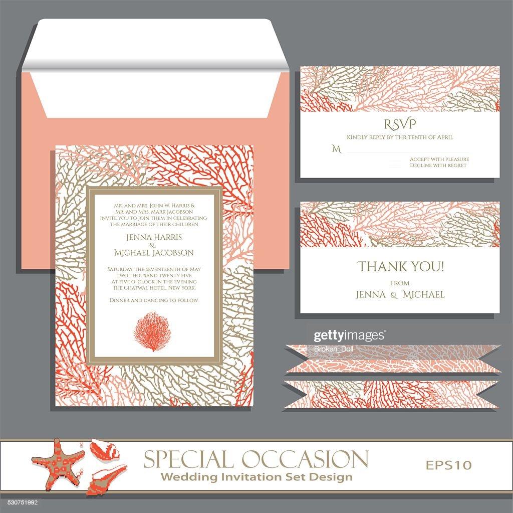 Wedding Invitation Card Set