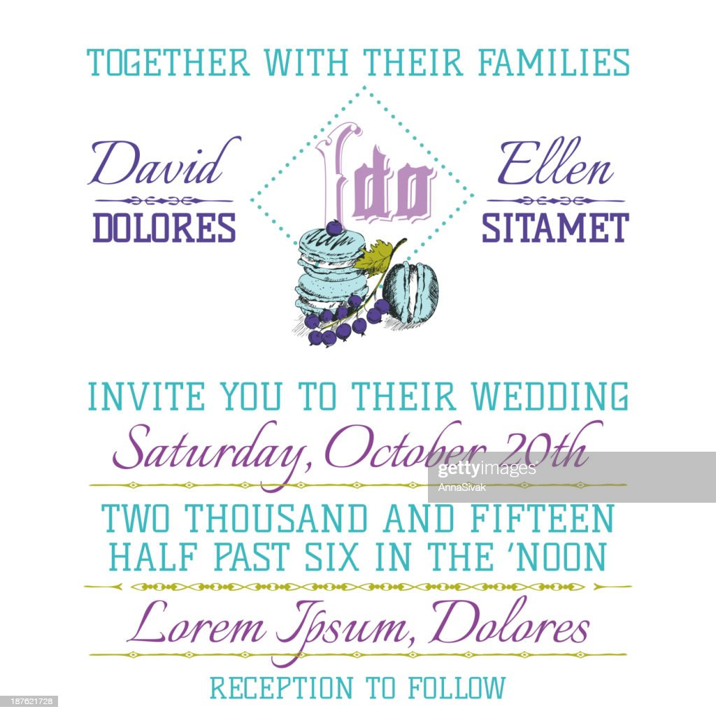 Wedding Invitation Card High Res Vector Graphic Getty Images
