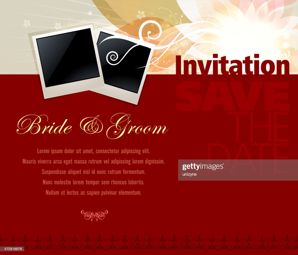 Wedding Invitation Card Vector Art   Getty Images