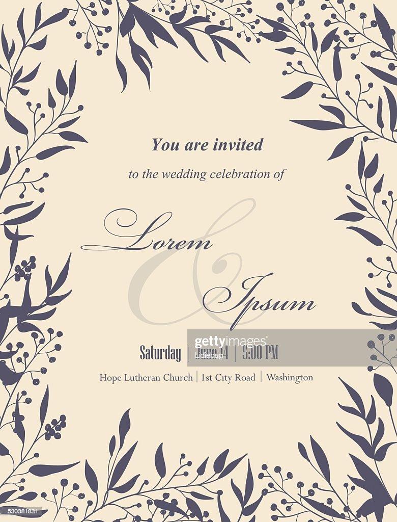 Wedding invitation card.