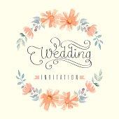 Wedding invitation hand letter