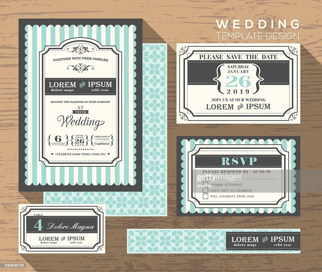 wedding invitation set design Template