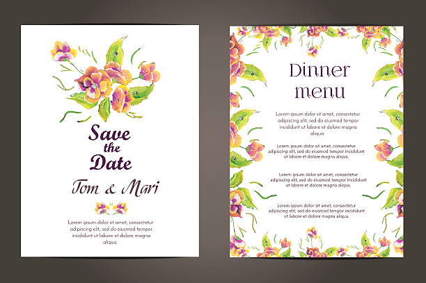 Free wedding invitation decoration images pictures and royalty wedding invitation vector cards set stopboris Choice Image