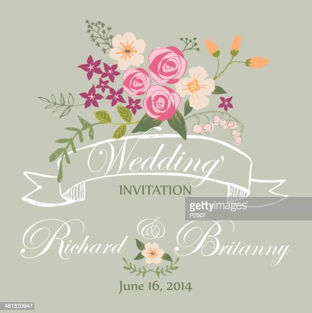 wedding invitation - wedding invitation stock illustrations, clip art, cartoons, & icons