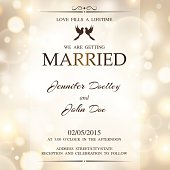 Wedding invitation with lights.