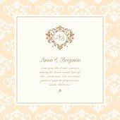 Wedding invitation with monogram