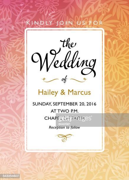 wedding invitations - wedding invitation stock illustrations, clip art, cartoons, & icons