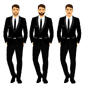 Wedding men's suit, tuxedo.
