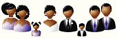 Wedding party icons - African