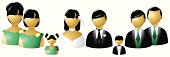 Wedding party icons - Asian