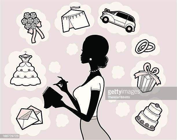 illustrazioni stock, clip art, cartoni animati e icone di tendenza di wedding planner - wedding planner