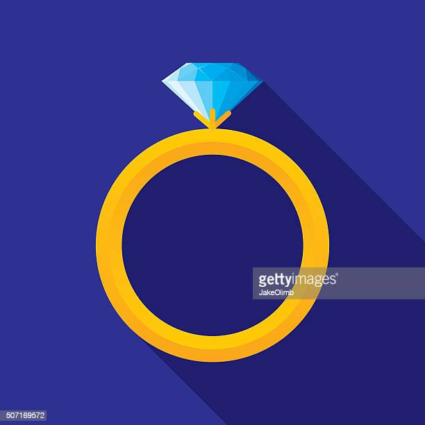 Wedding Ring Icon Flat