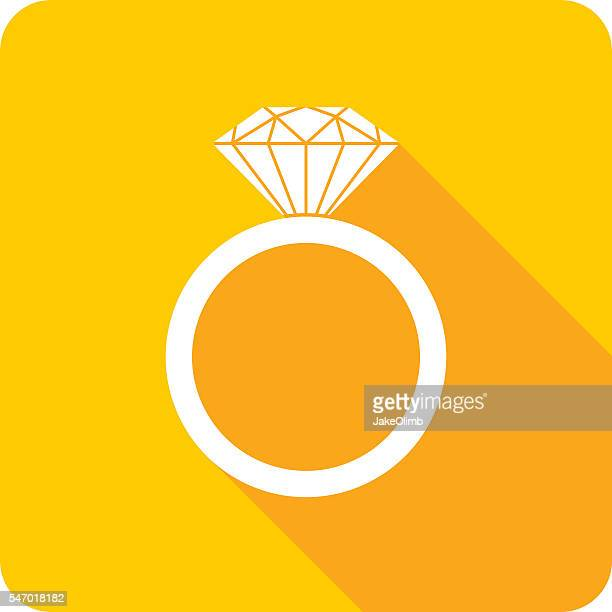 Wedding Ring Icon Silhouette