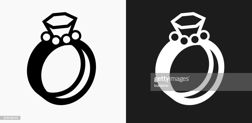 Wedding Rings Icon On Black And White Vector Backgrounds High Res Vector Graphic Getty Images