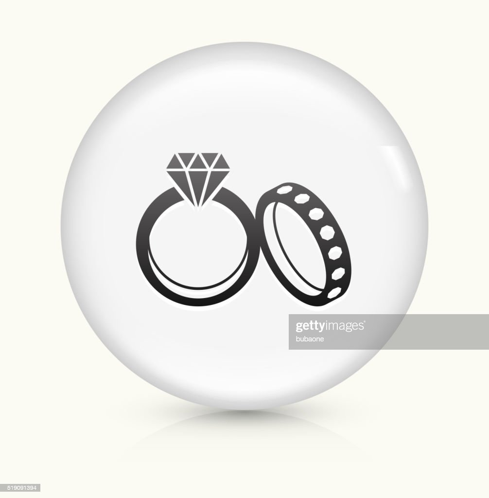 Wedding Rings Icon On White Round Vector Button Vector Art Getty