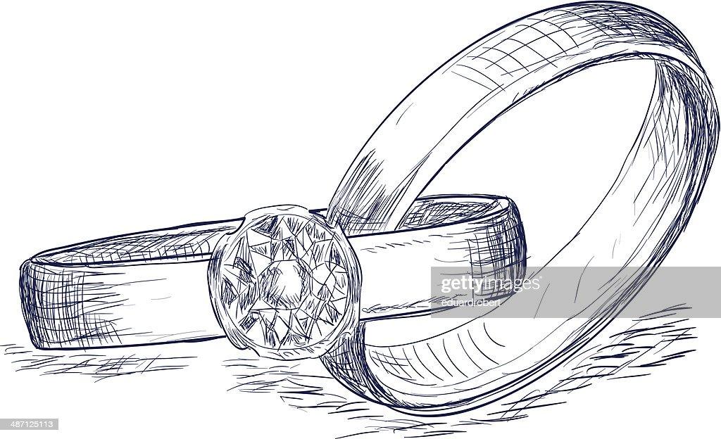 Wedding rings sketch