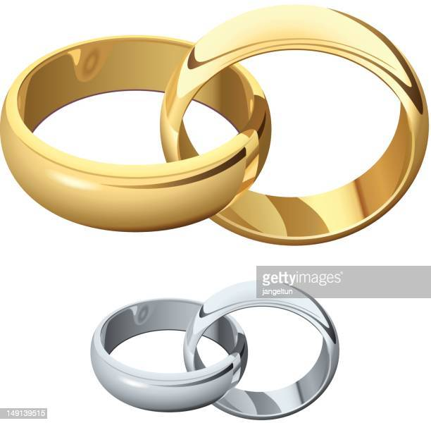 wedding rings - married stock illustrations
