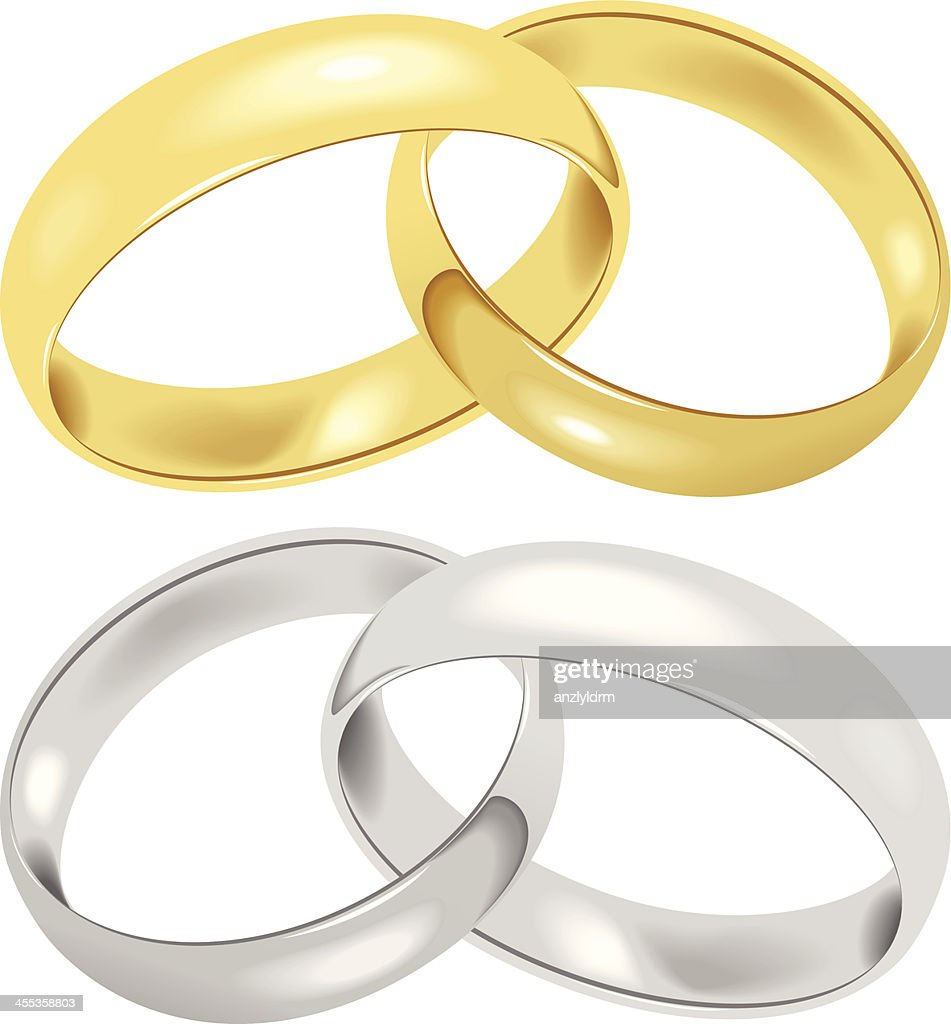 Wedding Rings Vector Art Getty Images