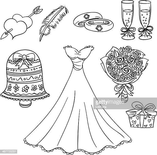 Série de mariage en noir et blanc