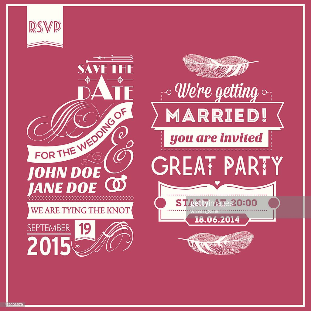 Wedding stamps pink