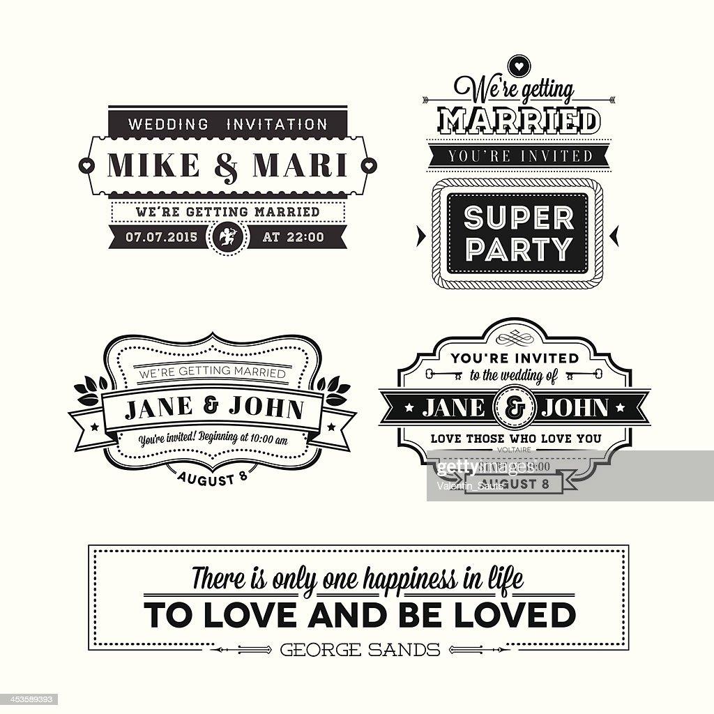 Wedding stamps set