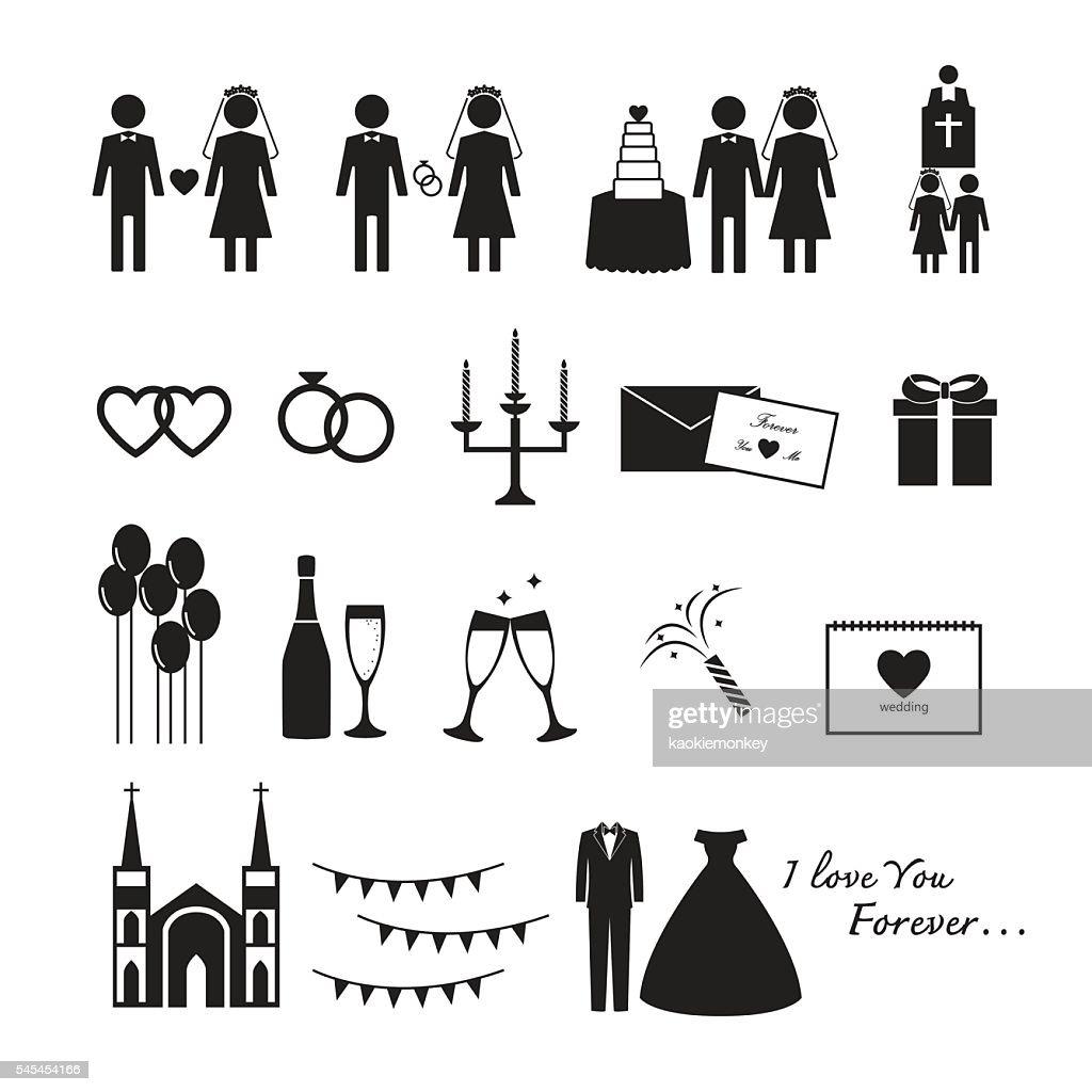 wedding vector,icon set