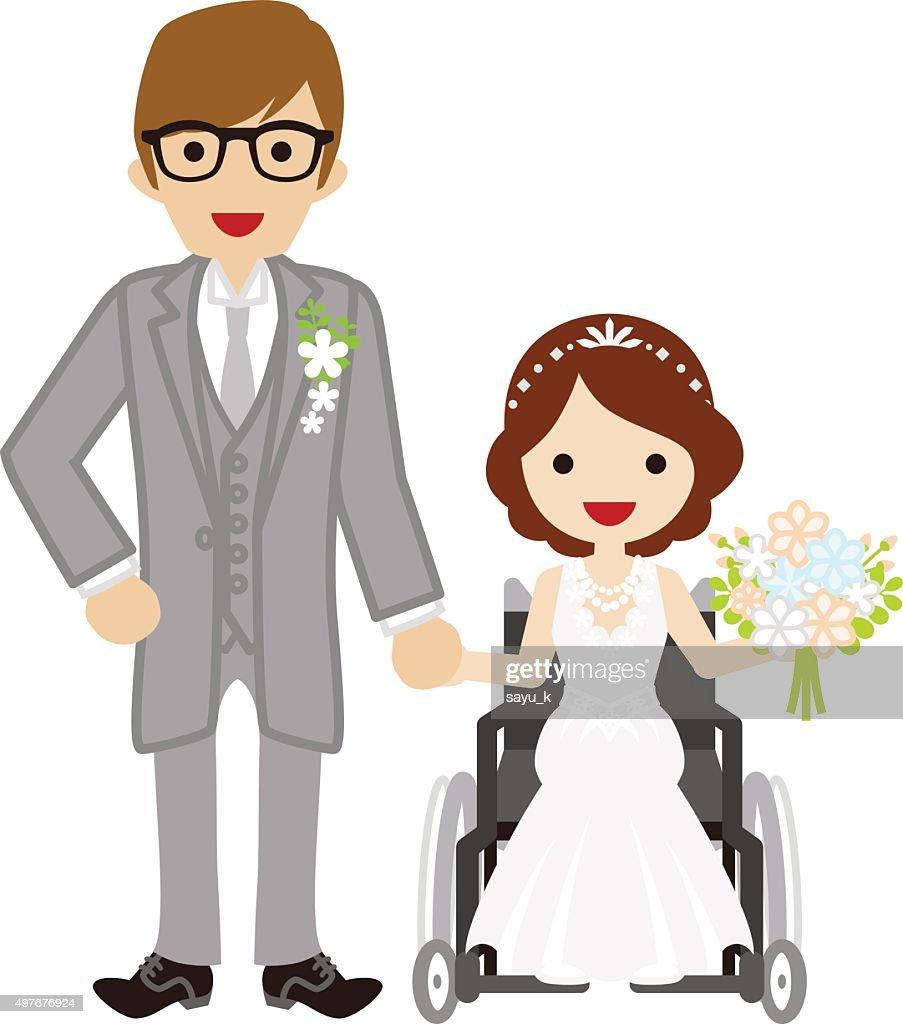 Wedding wheelchair Bride