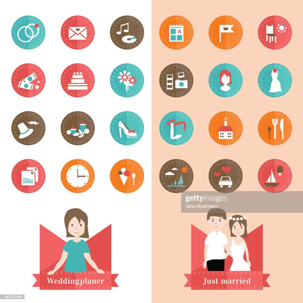 Weddingplaner 24 Icons