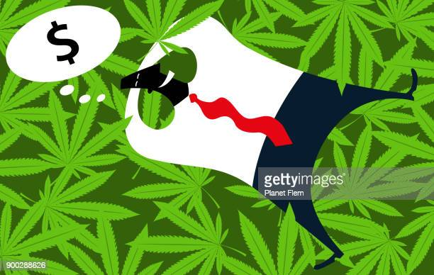 weed money - cannabis plant stock illustrations, clip art, cartoons, & icons