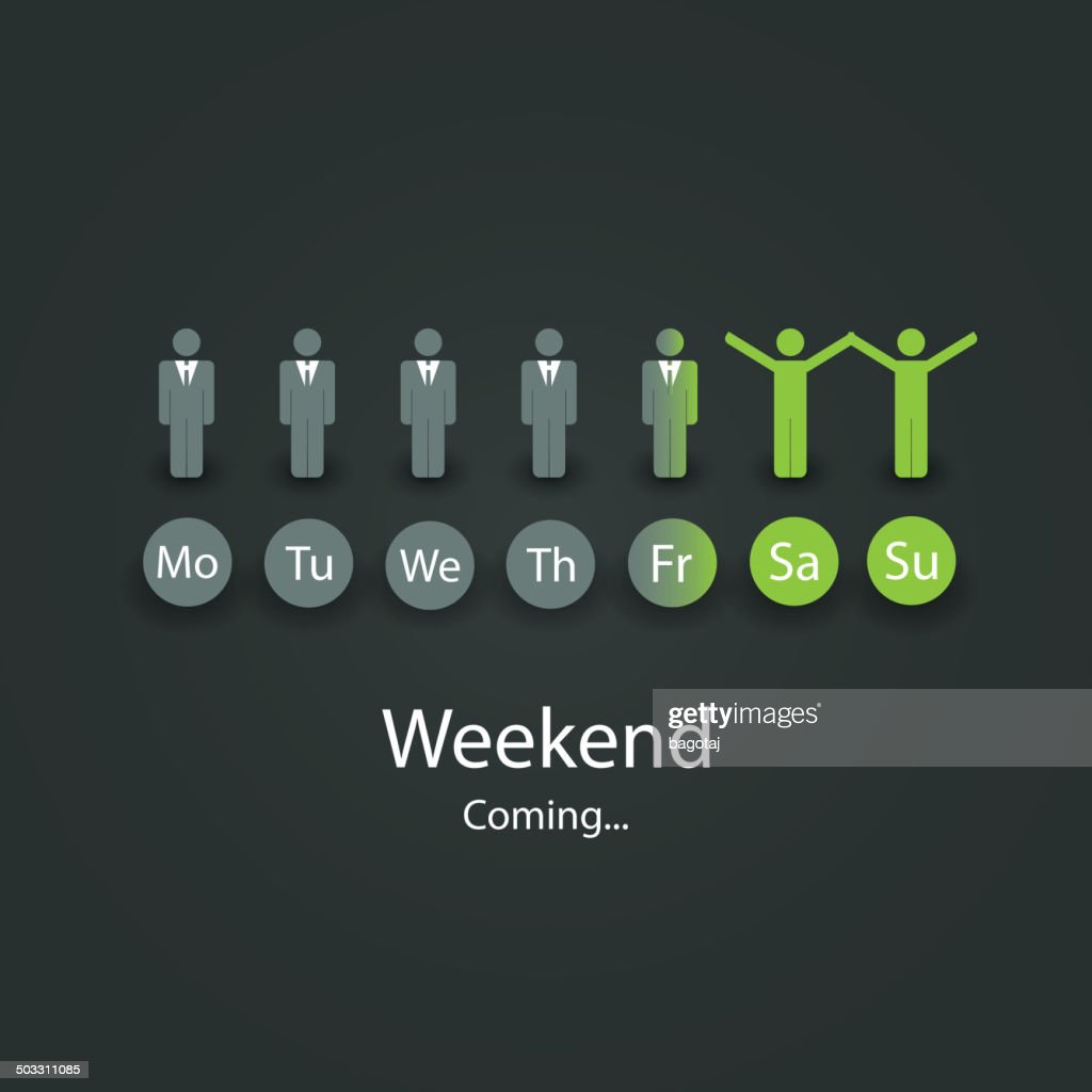 Weekend's Coming Soon Illustration