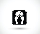 Weigh icon vector illustration