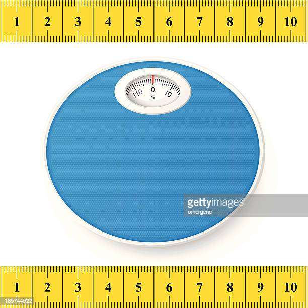 weighing machine - tape measure stock illustrations, clip art, cartoons, & icons