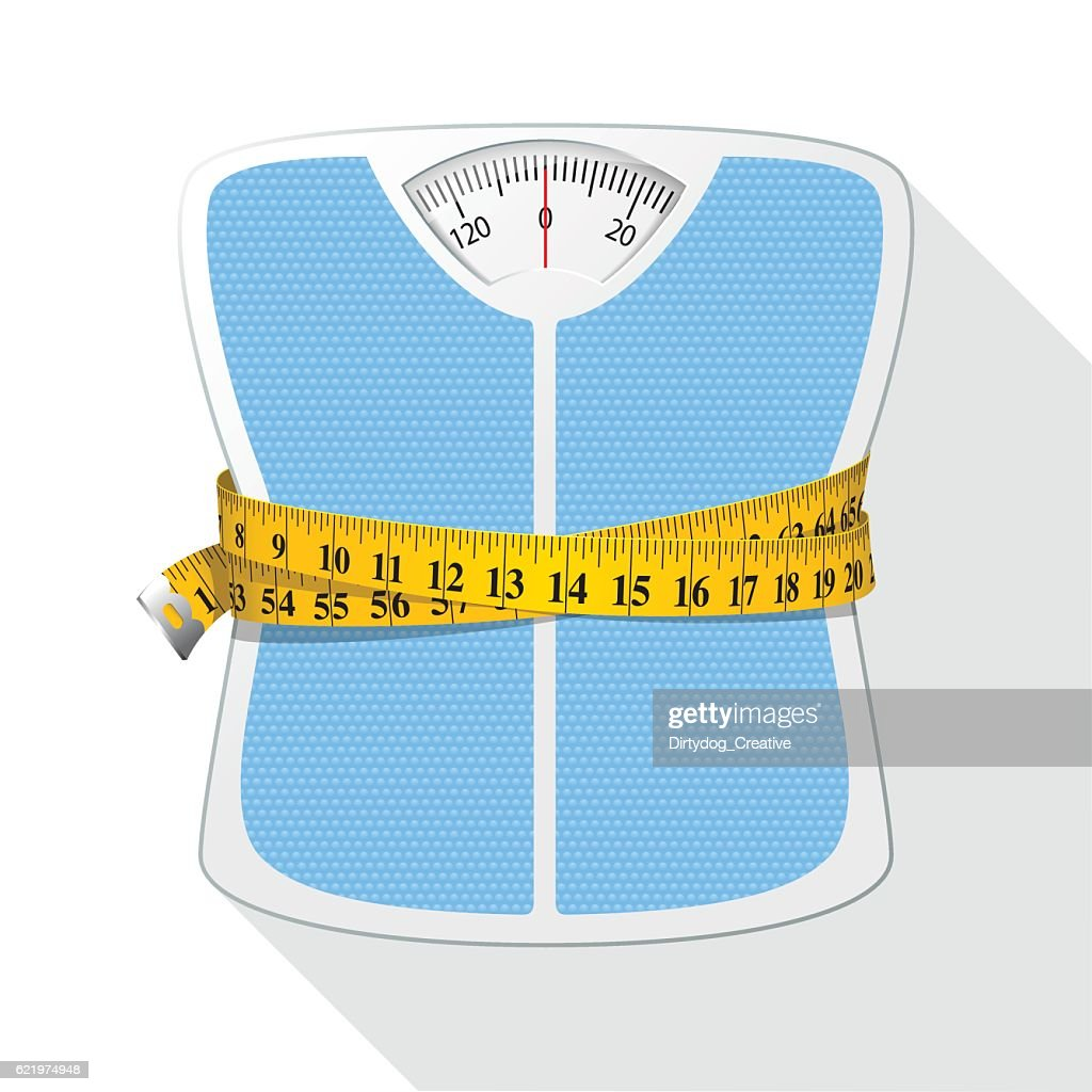 Weighing Scales & Tape Measure / Diet concept