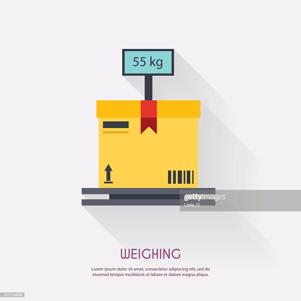 Weighing. Warehouse icons logistic blank and transportation, sto