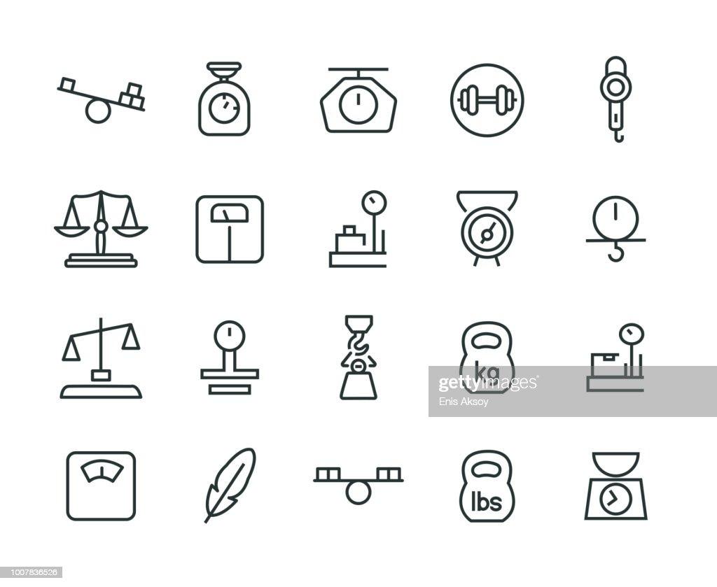 Weight Icon Set : Stock Illustration