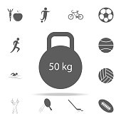 weight icon. Sport icons universal set for web and mobile