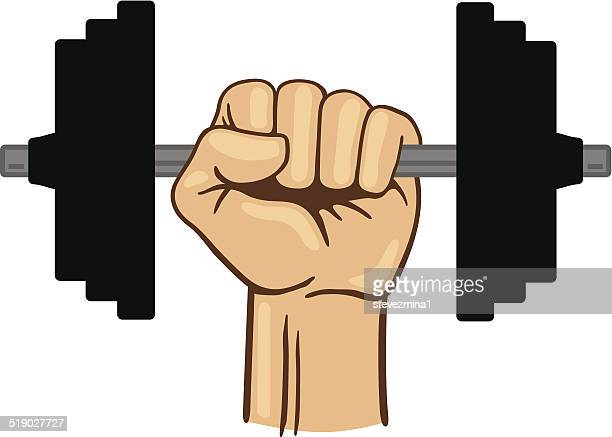 weight lifting - sports hall stock illustrations