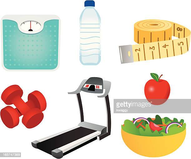 weight loss icons - inch stock illustrations