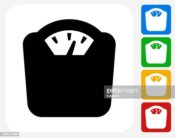 weight scale icon flat graphic design - dieting stock illustrations, clip art, cartoons, & icons