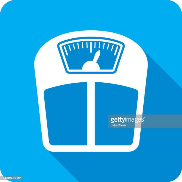 weight scale icon silhouette - scale stock illustrations